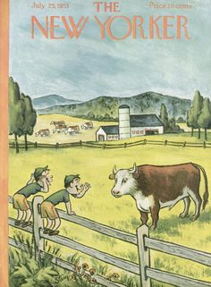 William Steig : Cover art for The New Yorker 1484 - 25 July 1953
