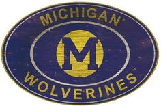 NCAA Michigan Wolverines Heritage Oval Wall Sign