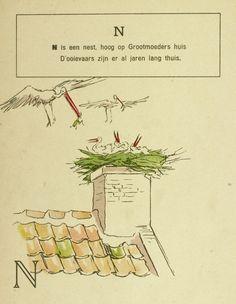 Nest: Het ABC / door Mevr. van Osselen van Delden ; naar teekeningen van Louis Raemaekers. - Amsterdam : L.J. Veen, [1907]