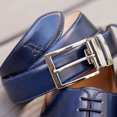 Pull your look together with a DONUM belt—designed to coordinate with and compliment your favorite DONUM footwear. Midnight blue leather with satin silver buckle. #donumshoes #sacrificenothing #menswear #style #belts