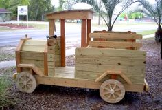 YellaWood toy truck.