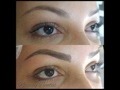 Marcação de Sobrancelhas para Design ou Micropigmentação - Técnica Cris Carmo - YouTube Eye Make Up, Eyebrows, 3 D, Youtube, Makeup, Hair, Threading, Design, Eyebrow Shapes