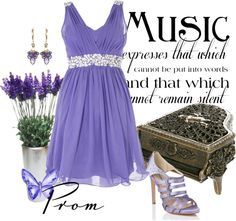 """Rown's Prom do-over in lavender"" by rownstyle ❤ liked on Polyvore"