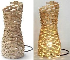 Lámpara hecha con pinzas