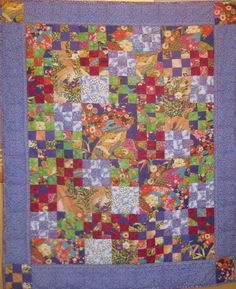Purple Nine patch Pizzazz Quilt