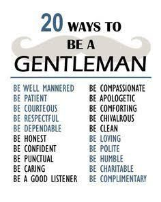 Image result for being a gentleman
