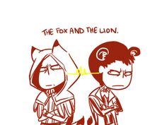 AC: Fox and Lion. by thunderjelly on DeviantArt