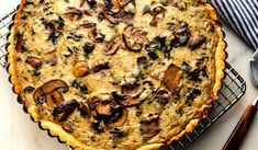 MUSHROOM TART - NYT Cooking: If you have made the mushroom ragoût, this tart is quickly assembled. You need about 2 cups of the ragoût for the filling. Quiches, Vegetarian Recipes, Cooking Recipes, Healthy Recipes, Pan Cooked Chicken, Mushroom Tart, Mushroom Quiche, Vegetable Tart, Stuffed Mushrooms