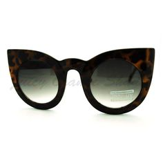 Oversized Round Cateye Sunglasses Womens Vintage Retro Eyewear #JuicyOrange #CatEye