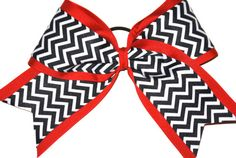 3 Inch Chevron Cheer Bow by Justcheerbows on Etsy, $7.00 #cheerbows #justcheerbows