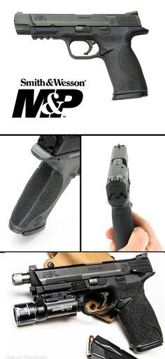 Smith & Wesson M&P Pro Series sights, barrel, melonite finish. Rifles, Survival, Smith N Wesson, Military Guns, Cool Guns, Guns And Ammo, Shotgun, Firearms, Hand Guns