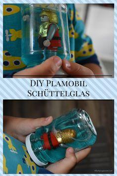 Schneekugel mal anders - DIY Anleitung für ein Playmobil Glitzerglas
