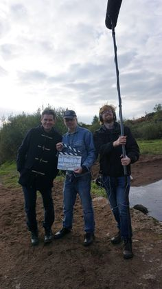 On set for Seamus Scanlon's The Long Wet Grass film. With Paul Nugent, Seamus Scanlon and Fintan Geraghty https://www.facebook.com/thelongwetgrass/photos/a.413218355470426.1073741827.413214922137436/1207321156060138/?type=3&theater