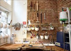 Gild Atelier - I love the tiny sink on the bench, very handy Jewelry Studio Space, Studio Spaces, Creative Studio, Studio Layout, Studio Design, Home Office, Office Workspace, Studio Organization, Shop Organisation
