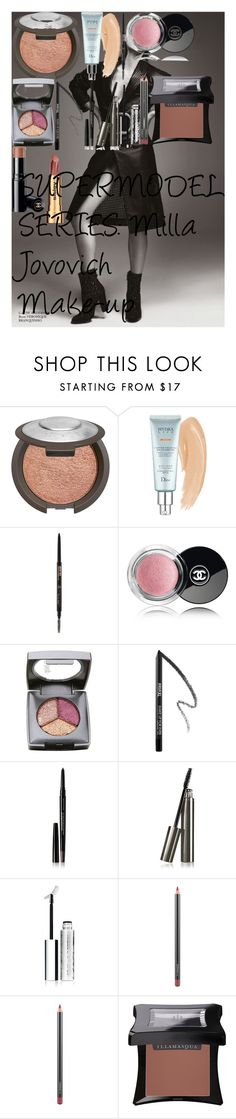 """SUPERMODEL SERIES: Milla Jovovich Make-up"" by oroartye-1 on Polyvore featuring beauty, Christian Dior, Anastasia Beverly Hills, DuWop, MAKE UP FOR EVER, Kevyn Aucoin, Chantecaille, Clinique, MAC Cosmetics and Illamasqua"