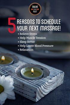 Here are 5 reason to schedule your next massage! Read more: https://www.treatyourfeetbuckhead.com/body-massages-atlanta-ga/