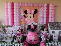 Atelier_ArteFolia: decoração de festa infantil minnie rosa