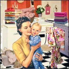 Housework can wait, Babies won't! Words I lived by! A pile of laundry but a baby…