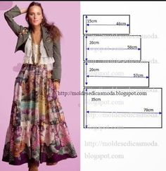 Skirt pattern maxi dress tutorials 42 New Ideas Diy Clothing, Sewing Clothes, Clothing Patterns, Dress Patterns, Fashion Sewing, Diy Fashion, Diy Kleidung, Dressmaking, Pattern Fashion