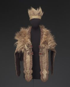 Cape (lembde) and hat, Amharic peoples, Ethiopia, Africa, early to mid-1900's.
