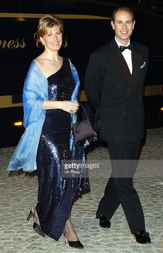 The Earl and Countess of Wessex attend a dinner and party at the Royal Palace in honor of the wedding of Dutch Crown Prince Willem-Alexander and Maxima Zorreguieta January 31, 2002 in Amsterdam, The Netherlands.