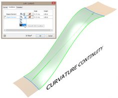 Autodesk Inventor sweep dialog with surface continuity options