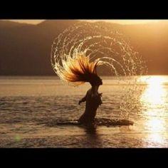 sunset hair flip