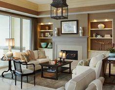 Oceanfront Condominium traditional-living-room