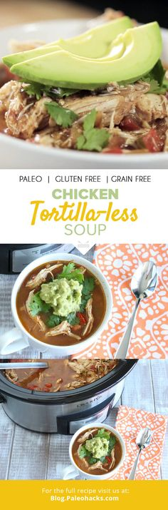 This Chicken Tortilla-less soup is perfect for a quick weeknight dinner to come home to after a busy day, or as an easy make-ahead lunch to last you the week. For the full recipe visit us here: http://paleo.co/chucktortillasoup