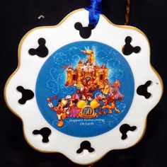 Disneyland Mickey Happiest Homecoming Earth 50th Anniversary Christmas Ornament