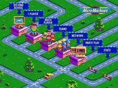 Image result for micro machines v3 menu