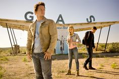 First photo from #Transformers: Age of Extinction featuring Mark Wahlberg, Nicola Peltz and Jack Reynor.
