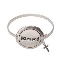 Silver Blessed Bangle Bracelet  #Inspiredsilver #sale