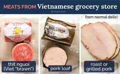 Meat for Banh Mi Vietnamese Sandwich from Vietnamese grocery stores Chicken Loaf, Chicken Feed, Vietnamese Sandwich, Vietnamese Recipes, Banh Mi Recipe, Food Network Recipes, Cooking Recipes, Juicy Baked Chicken, Kitchens
