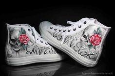 converse personalizzate ink art tattoo