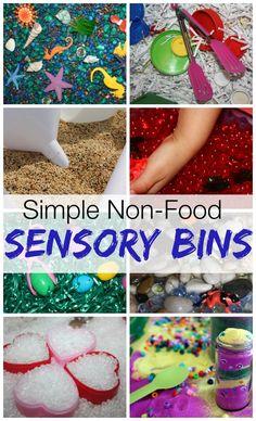 non food sensory bins roundup
