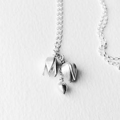 Fine silver wild clematis/old man's beard blossom necklace