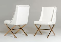 Peyton White and Rose Gold Chair - http://www.oldbonesco.com/ - 2