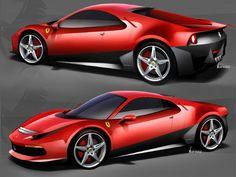 Pininfarina Ferrari SP12 EC Design Sketches