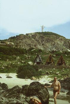 1989, Christus Statue auf einem Berg bei Vung Tau Südvietnam;     1989, Christ the Redeemer statue on a mountain in Vung Tau Vietnam;