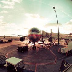 Sunshine Plane Waiting To Board  wallpaper