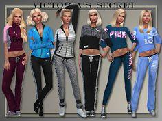 My Sims 4 Blog: Victoria's Secret Pink Athletics by Judie