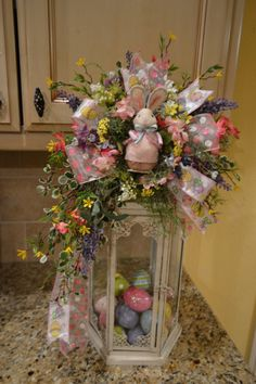 Easter Bunny Lantern Swag by kristenscreations on Etsy