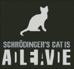 Schrodinger's cat  - PDF cross stitch pattern