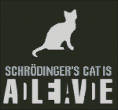 Schrodinger's cat  - PDF cross stitch pattern