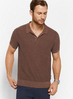 Michael Kors Pique Linen And Cotton Polo Shirt Smart Casual Menswear Summer, Men Casual, Casual Outfits, Best Polo Shirts, Mens Fashion Online, Men Fashion, Tailored Trousers, Men Dress, Men Sweater