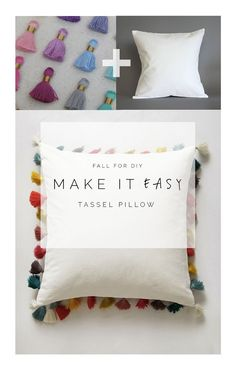 DIY Easy Tassel Pillow Tutorial by fall for diy (Anthropology knock-off)