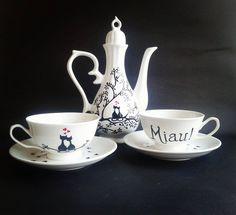 Tea set - Teapot - Cats tea