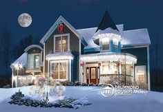 Victorian House Plans, Victorian Homes, Room Above Garage, Drummond House Plans, Victorian Architecture, Amazing Architecture, Country Style Homes, Home Photo, Maine House