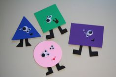 Fun monster shapes, and you get to play with googly eyes!  How much fun is this?